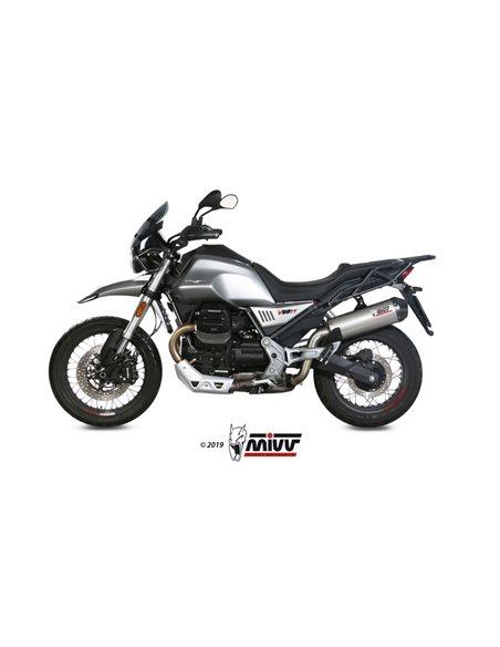 Escape Moto Guzzi V85 TT 2019 Mivv Oval Titanio M.013.LNC