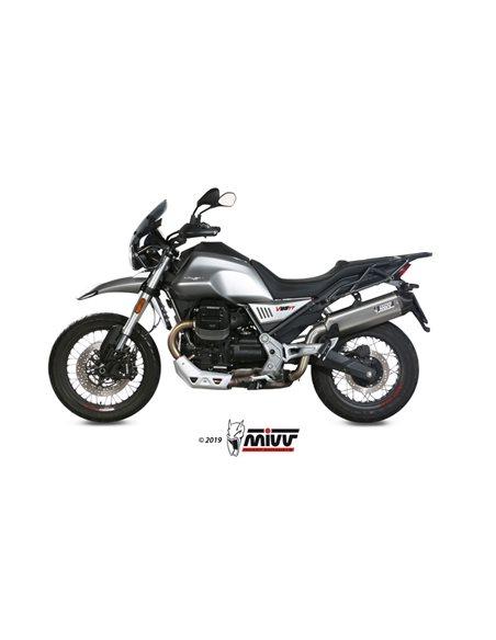 Escape Moto Guzzi V85 TT 2019 Mivv Speed Edge Acero Inox M.013.LRX