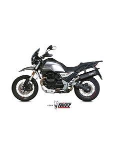 Escape Moto Guzzi V85 TT 2019 Mivv Speed Edge Acero Inox Negro M.013.LRB
