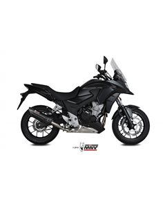 Escape Mivv H.067.L9 Honda CB 500 X del 2017-2020 Suono Inox Black