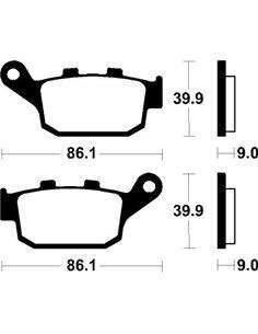 Pastillas de freno traseras Honda CB CBR CTX NC BENDIX COMP. SINTERIZADO para deportivas MR381