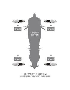 Resistencia 10w para intermitentes led Barracuda
