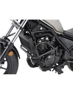 Defensas motor Honda Rebel 500 CMX 2017-2019 Acero inox Negro