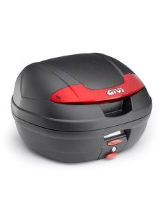 Baul Givi E340 Vision negra catadrioptico rojo E340N