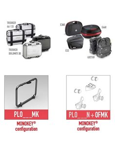 Portamaletas lateral Moto Guzzi V85 TT 2019 Givi PLOR8203MK