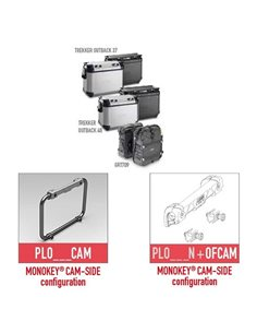 Portamaletas lateral Moto Guzzi V85 TT 2019 Givi PLOR8203CAM