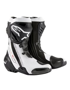 Botas Alpinestars Supertech R Boot Negro/Blanco Perforadas Vented