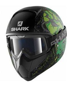 Casco Shark Vancore Ashtan HE3917EKGG Verde Mate de moto