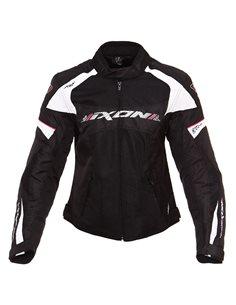 Chaqueta Ixon Lady Sierra Negro/Fucsia de moto