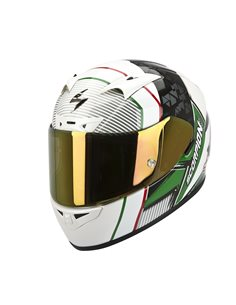Casco Scorpion EXO-710 AIR CRYSTAL Blanco/Verde/Rojo