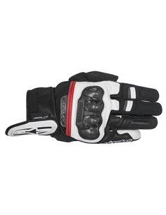 Guante Moto Alpinestars Rage Drystar Negro/Blanco/Rojo