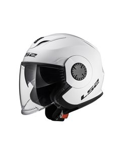 Casco moto LS2 OF570 Verso Solid Blanco