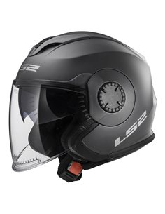 Casco moto LS2 OF570 Verso Solid Titanio Mate