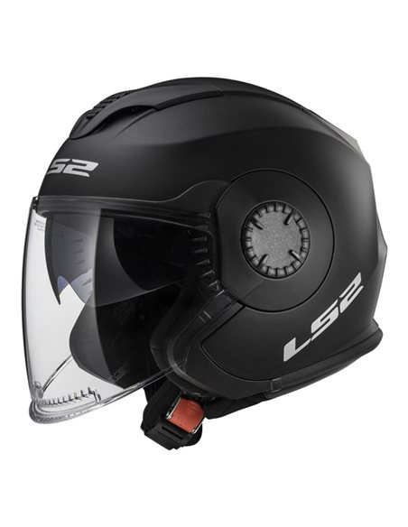 Casco moto LS2 OF570 Verso Solid Negro Mate