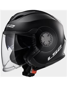 Casco moto LS2 OF570 Verso Solid Negro