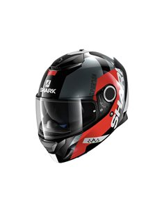 Casco moto Shark Spartan Apics Black/Red/Anthracite HE5035EKRA