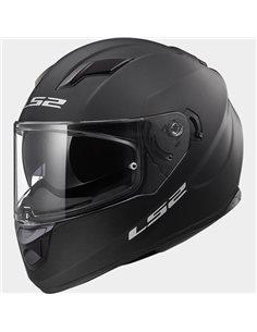Casco moto LS2 FF320 Solid Negro Mate