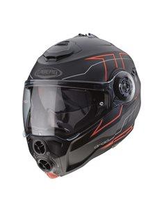 Casco Caberg Droid Blaze Negro Rojo de moto
