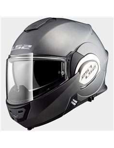 Casco moto LS2 FF399 Valiant Solid Titanio Mate