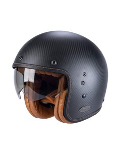 Casco Jet Scorpion Belfast Carbon Negro mate