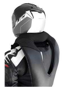 Chaleco Airbag Helite GP Negro/Blanco de moto
