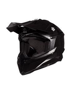 Casco cross MT Falcon Solid A1 Negro Brillo