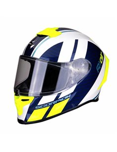 Casco Scorpion EXO-R1 Air Corpus Blanco-Azul-Amarillo