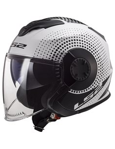 Casco LS2 OF570 Verso Spin Blanco Negro