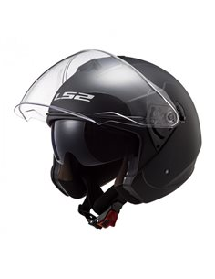 Casco LS2 OF573 Twister II Solid Negro Mate