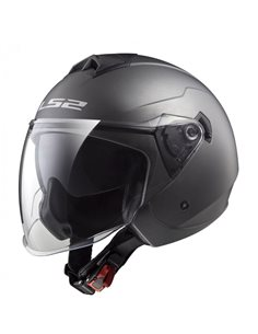 Casco LS2 OF573 Twister II Solid Gris Titanio Mate