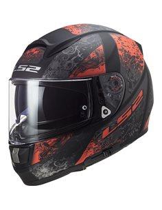 Casco moto LS2 FF397 Vector Swipe Negro Mate Rojo