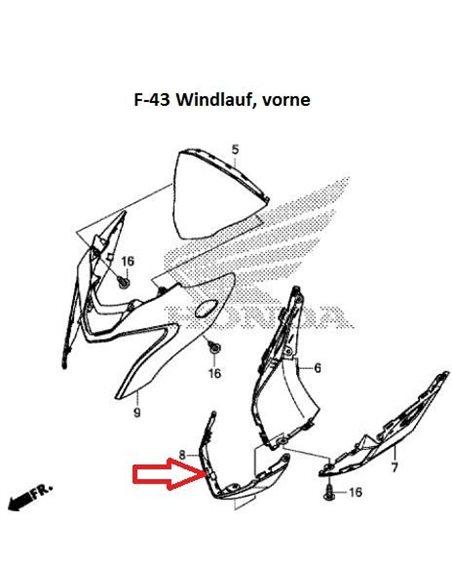 Tapa inferior faro delantero carbono CB500F 08F75-MGZ-J40