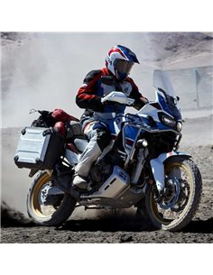 Maletas laterales, caballete central y luces antiniebla para Africa Twin 2018-2019 Pack Adventure 08HME-MKK-AD18L2