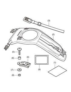 Fijacion bolsa sobre Deposito Honda CB500F y CBR500R 2019 08L70-MKP-J00