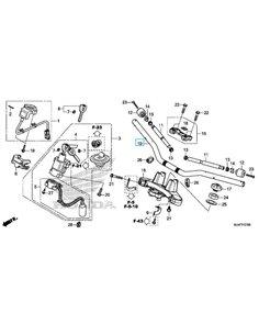 Espejo retrovisor Derecho Honda Africa Twin NC750X NC750S NC750D 88210-MGS-D30
