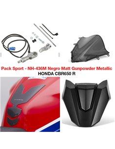 Pack Sport Honda CBR650R 2021 Negro Mate NH-436M 08HME-MKY-SP21ZB