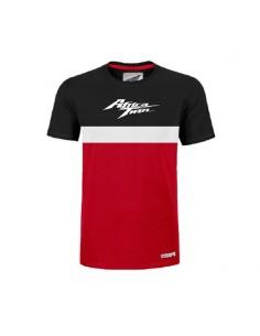 Camiseta Africa Twin Negra-Roja Colección Honda Vintage Original