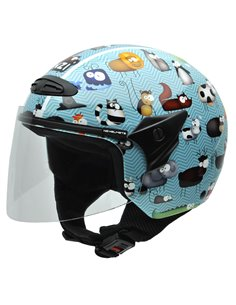 Casco Jet NZI HELIX II JR GRAPHICS ANIMALS