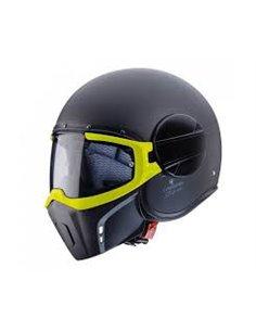 Casco Caberg Ghost Fluo Negro Mate Amarillo Flúor para moto