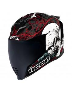 Casco Icon Airflite skull 18 rojo-negro