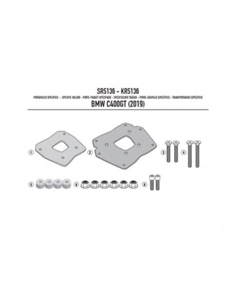 Fijación baul trasero BMW C400 GT 2019-2020 Givi SR5136