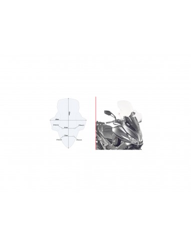 Parabrisas alto Kymco XCITING 300 S 2018-2020 Givi D6104ST
