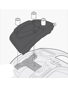 Kit montaje para adaptador Suzuki Burgman 650 2013-2020 Givi SR3104KIT