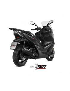 Escape Kymco Xciting 400i S 2019-2020-2021 Mivv Mover Acero Inox Negro MV.PG.0001.LV