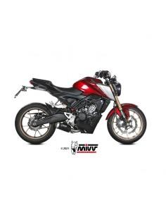 Escape completo Honda CB125R 2021 Mivv MK3 Acero Inox Negro H.078.SM3B