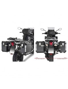 Fijacion maletas laterales Triumph Tiger Explorer 1200 2012-2017/Tiger 1200 2018 GIVI PL6408CAM