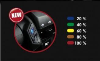 Puños calefactables lightech muestra visual 5 niveles temperatura tiendamotorista.com