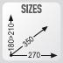 dimensiones de la bolsa XS306