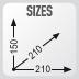 dimensiones de la bolsa de deposito XS319