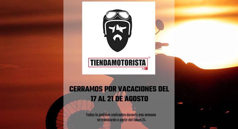 Comunicado de Vacaciones en www.tiendamotorista.com